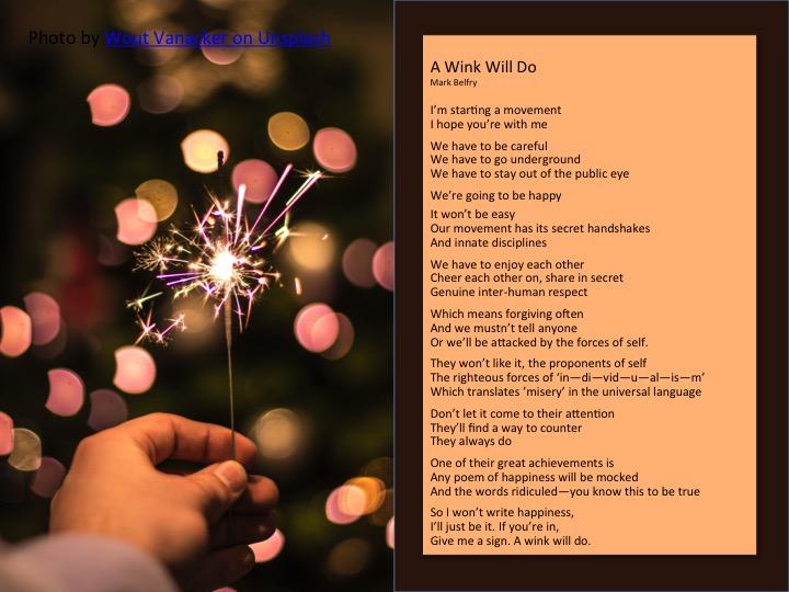 Poem: Underground Happiness